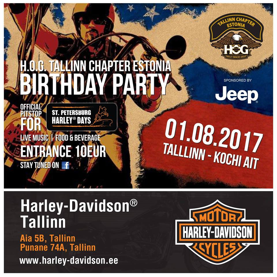 H.O.G. CHAPTER TALLINN ESTONIA BIRTHDAY PARTY 2017